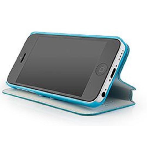 CAPDASE Folder Case Sider Baco Series for Apple iPhone 5C - Blue/Blue [FCIHM-SB33] - Casing Handphone / Case